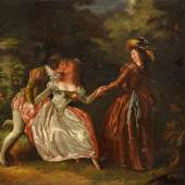 """((Bild """"Schall-Jean Frederic"""", Bildnachweis: Galerie Fine Arts – Helmut Bezenka)) """"Amourette"""": Ein Bild des 1752 in Straßburg geborenen Malers Jean- Frederic Schall, gezeigt von der """"Galerie Fine Arts – Helmut Bezenka""""."""