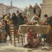 Schauer Markttag in Venedig