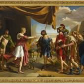 Gottlieb Schick, Achill empfängt die Gesandten Agamemnons, 1801, Öl auf Leinwand, doubliert, 108,5 x 142 cm, Staatsgalerie Stuttgart