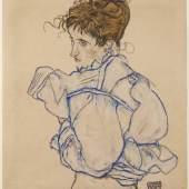 Richard Nagy Ltd.  Egon Schiele, Woman Disrobing (Edith Schiele), 1917 Courtesy Richard Nagy Ltd., London