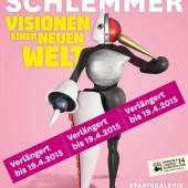 Plakat zur Ausstellung »Oskar Schlemmer –  Visionen einer neuen Welt«
