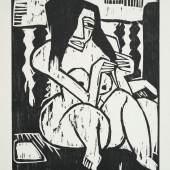 Schmid Rottluff, Frau mit aufgelösten Haar