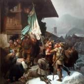 Philipp Sporrer, Der Schmied von Kochel, 1856, Öl auf Leinwand, 144 x 11 cm. Foto: Galerie Decker