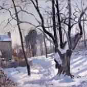 Camille Pissarro: Schneelandschaft in Louveciennes, 1872 © Museum Folkwang, Essen