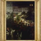 Georg Schöbel Berliner Weihnachtsmarkt, 1893. 70 x 54 cm, von Boetticher N° 1.