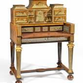 Barock Schreibkabinett mit Boulle-Marketerie Antwerpen | Um 1700 | Werkstatt Hendrik van Soest Nussbaumfurnier mit figürlichen Zinneinlagen | 131x96x64 cm Taxe: 30.000 – 40.000 Euro