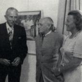 Foto: Walther und Helga Lauffs mit Paul Wember (Mitte)