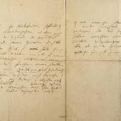Beethoven, Ludwig van. Ungewöhnlich bedeutender eigenhändiger Brief mit Unterschrift, Ende Juli/Anfang August 1825, an Erzherzog Rudolph von Österreich, 3 S. 4to in hellbrauner Tinte. Unter den 127 Briefen zwischen Beethoven und dem Erzherzog, der wichtigsten Privatkorrespondenz des Kom-ponisten, ist dies das einzige vollständig überlieferte Schreiben, das noch in Privatbesitz ist.     €  148 000,–Musikantiquariat Dr. Ulrich Drüner