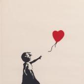 BANKSY Girl with Balloon 2004-2005 Silkscreen print 76x56 cm Private collection