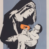 BANKSY Virgin Mary (Toxic Mary) 2003 Silkscreen print 76x56 cm Private collection