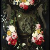 Daniel Seghers 1590–1661 tätig in Antwerpen  Hl. Familie mit Blumen um 1650