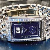 A. Lange & Söhne CABARET Beeindruckende, kostbare, mit insgesamt 480 funkelnden Diamanten besetzte Glashütter Armbanduhr aus einer Kleinstserie von weniger als ein Dutzend - mit Originalschatulle, Garantie-Zertifikat und StellstiftSchätzpreis 30.000 - 60.000 €