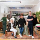 Michela Codutti, Hannah Stippl & Alexander Schattovich in THE SPACE - LIVING AND WORKING WITH ART AND DESIGN. Foto: Matthias Nemmert, September 2021
