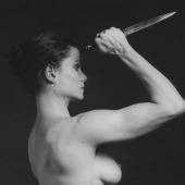 Robert MapplethorpeLisa Lyon, 1982Silver gelatin print50.8 x 40.6 cm (20 x 16 in) (RMP 2149.2)