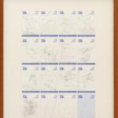 Joseph BeuysTo Mikis Theodorakis, 1982Pencil on notepaper, 16 partsEach: 12.4 x 8 cm (4.88 x 3.15 in)(JB 1230)