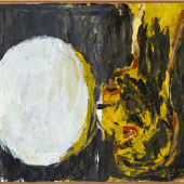 Georg BaselitzBlick aus dem Fenster [View out of the Window], 1982Oil on canvas130 x 162 cm (51.18 x 63.78 in)(GB 2231)