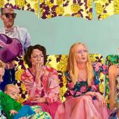 Janina Brügel: Distraction II 2021 Acrylic on canvas H. 145 cm, W. 155 cm