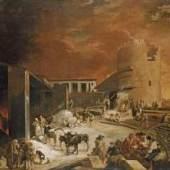 Sébastien Bourdon, Ein römischer Kalkofen, um 1637, Leinwand, 172,5 x 245,5 cm © Bayerische Staatsgemäldesammlungen, Alte Pinakothek, München