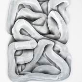 Sebastian Gumpinger, Linie 2019, Acryllack auf verzinktem Stahl, 118,5 x 86 cm