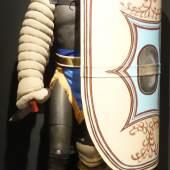 22: Der schwerbewaffnete secutor war auf den Kampf gegen den Netzkämpfer (retiarius) spezialisiert. Seine Ausrüstung wog etwa 18 kg (© Contemporanea Progetti GmbH-Firenze).