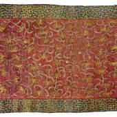 Der Seidene Kang-Lilienteppich Xinjiang, frühes 18. Jh. Seide auf Seide | 144 x 96 cm Schätzpreis: 50.000 – 70.000 Euro