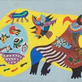 Sonja Sekula, Animal Without Subject of War, 1944, Öl auf Leinwand, 46 × 66 cm, Kunstmuseum Luzern