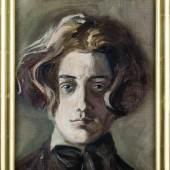 Selbstbildnis mti langem Haar 1907 (c) Sammlung E. u. H.H., Foto: Christoph Fuchs Studie, Öl auf Leinwand, 35,5 x 28,5 cm
