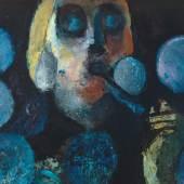 Helen Dahm: Selbstbildnis mit Seifen, 1952, Hinterglasbild