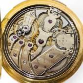 Seltene goldene Patek-Philippe-Taschenuhr mit Minutenrepetition. Ausrufpreis:18000 Euro