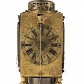 Seltene kleine Augsburger Tischuhr von Jeremias Pfaff Höhe: 16,5 cm. Breite: 8 cm. Maximale Tiefe: 6,5 cm. Augsburg, letztes Viertel 17. Jahrhundert. Schätzpreis:12.000 - 15.000 EUR