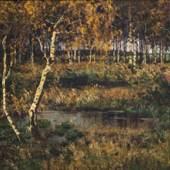 Elisabeth von Eicken: Herbstlicher Wald, um 1895, Öl auf Leinwand, 900 x 1340 mm