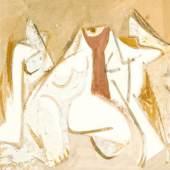 Hans Kinder Weibliche Akte, 1981, Gouache, 545 x 753 mm