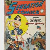 Sensation Comics No. 1, the first appearance of Wonder Woman, January 1942