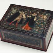Hochzeitskassette Wismut - Malerei auf Holzkorpus Nürnberg, 17. Jh.   Zur Verfügung gestellt von: Kunsthandel Dr. Seppmann