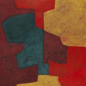 Serge Poliakoff Composition abstraite orange, jaune, vert, lie de vin. 1964 Öl auf Leinwand, 130 x 162 cm (51.1 x 63.7 in) Schätzpreis: € 250.000-350.000