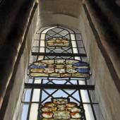 Wappenscheiben in der Ev.-Lutherischen Kirche in Nusse-Behlendorf © Deutsche Stiftung Denkmalschutz/Siebert