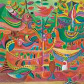 Shakir Hassan Al Said, Orchard of Knowledge, oil on canvas, 1955 (Est. £60,000-80,000)