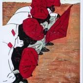 Ndasuunje (Papa) Shikongeni: Waiting to Receive Wartend auf den Erhalt, 2013  Kartondruck / Cardboard print 66 x 46 cm National Art Gallery of Namibia