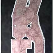 sign #25, 2019 Acryl, Grafit, Lackspray auf Leinwand, 100 x 80 cm © Michael Endlicher
