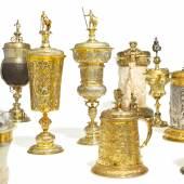 Deckelhumpen und Pokalen des Saturn-Gründers Friedrich Wilhelm Waffenschmidt Gesamtergebnis von rund 840.000 Euro