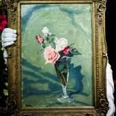 Sir Winston Churchill, Roses in a Glass Vase, Estimate £70,000-100,000 (i)