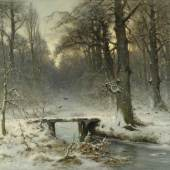 Louis Apol, A January Evening in the Wood at The Hague, 1875