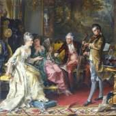 Karl Herpfer  (Dinkelsbühl 1836 - München 1897) Das Hauskonzert.   15.000 Euro