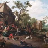 Joost Cornelisz. Droochsloot  (Utrecht 1586 - Utrecht 1666) Ländliches Fest.  12.000 Euro
