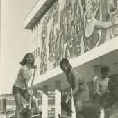Erdarbeiten an den Beeten, März 1969 (Eberhard Huste), © Stadtmuseum Dresden