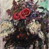 Lovis Corinth Rosen und Flieder   1918 Öl aus Leinwand   70,5 x 60,5cm