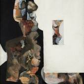 Peter Kodera  Collage  Acryl auf Platte 1973 92 x 61 cm