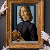 Sotheby's to Auction Sandro Botticelli's Young Man Holding a Roundel   One of the Greatest Renaissance Paintings Remaining in Private Hands   Estimated to Sell for in Excess of $80 Million During Sotheby's Masters Week Auctions In January 2021 in New York