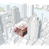 xterior Sketch - Aerial - Credit OMA New York