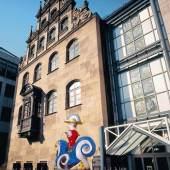 Außenfassade des Spielzeugmuseums in Nürnberg.